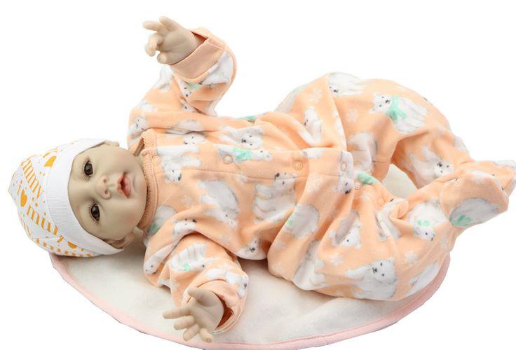 22 Inch Silicone Reborn Babies Doll Lovely NPK Collection Doll Handmade Newborn Baby Boy