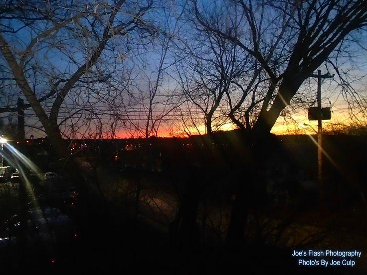 Christmas Day sunset over Trenton Ontario