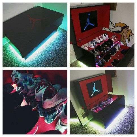 Fullsize Custom MichealJordan Shoe Box W/LED Lights With Remote.  $900+shipping
