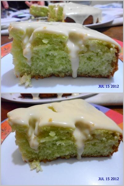 bolo verde diet de gelatina de limão com iogurte