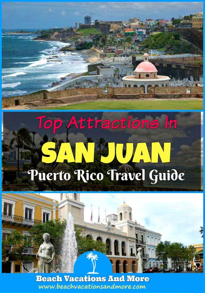 Top San Juan attractions in Puerto Rico to explore on vacation: National Historic Site, La Fortaleza, Old San Juan, Casa Bacardi, Castillo San Felipe del Morro, Paseo de la Princesa and other points of interest