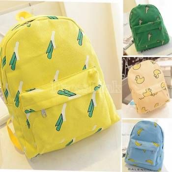 Ретро женщин плод холст рюкзак путешествия рюкзак унисекс ранец школьные рюкзаки
