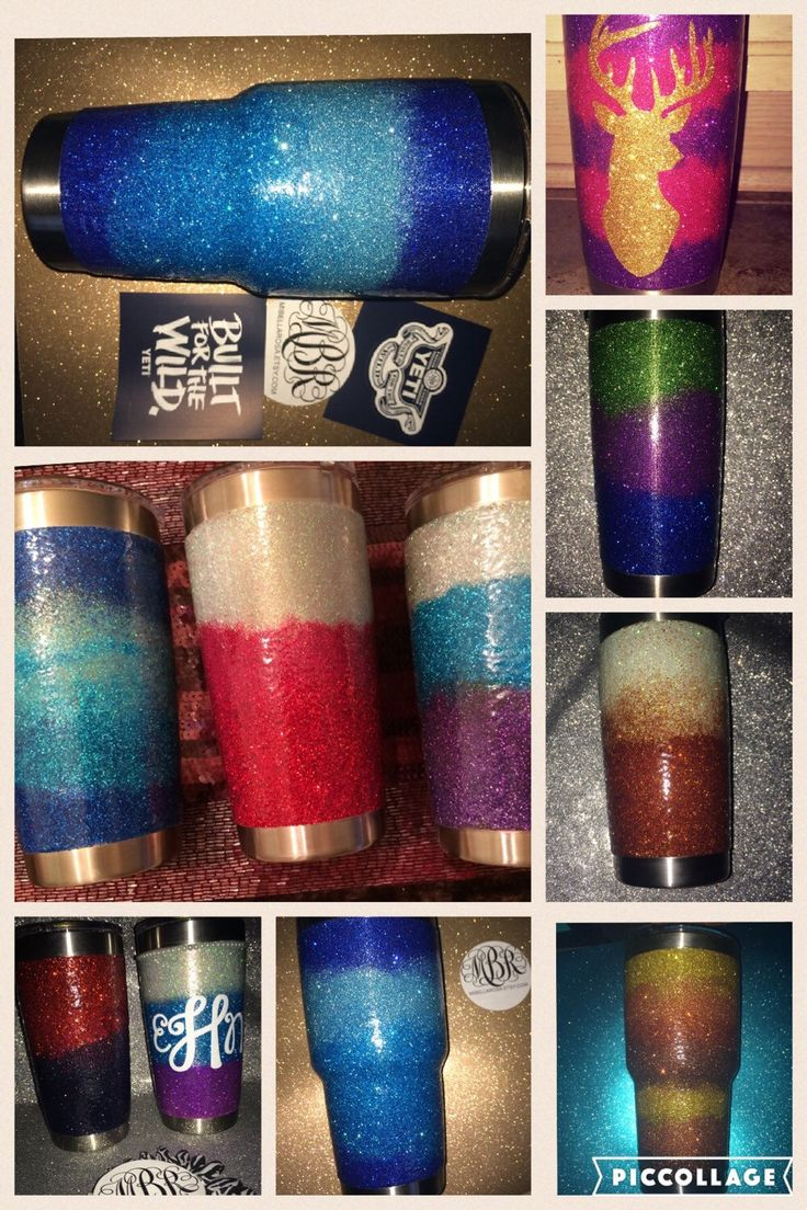 Ombre Glitter Dipped Authentic Yeti 20 or 30 oz. Rambler by MiBellaRosa on Etsy https://www.etsy.com/listing/263239577/ombre-glitter-dipped-authentic-yeti-20