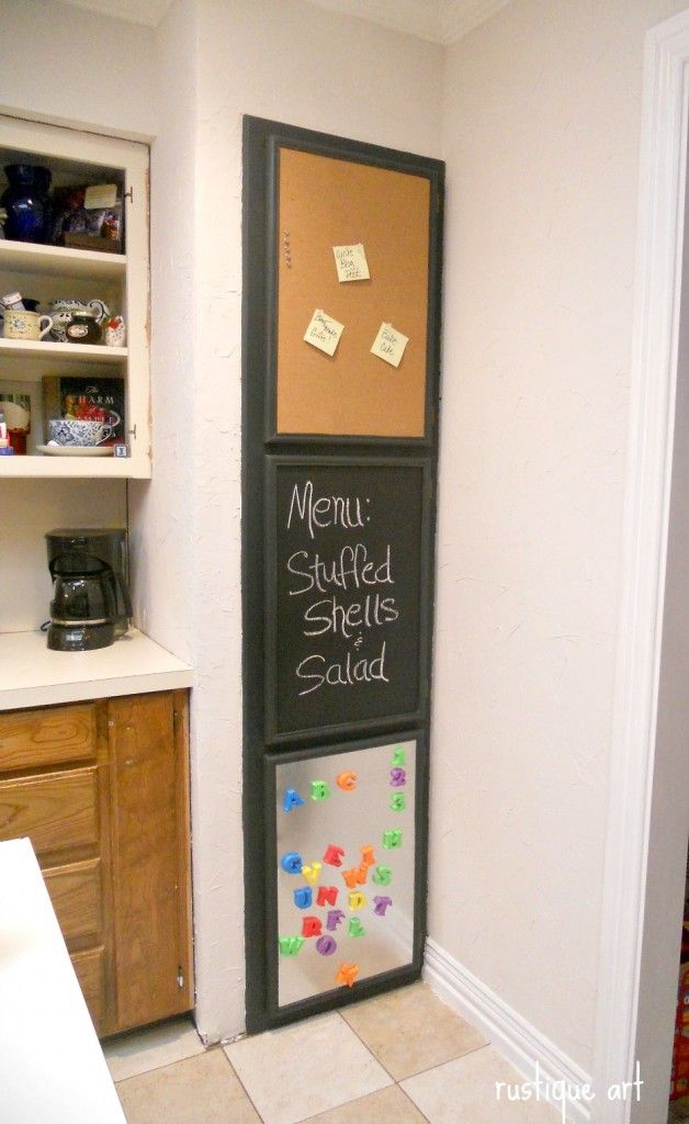 pantry door idea-so fun! Add your own touch with a little flair...custom #frames can add color, style, whimsy.