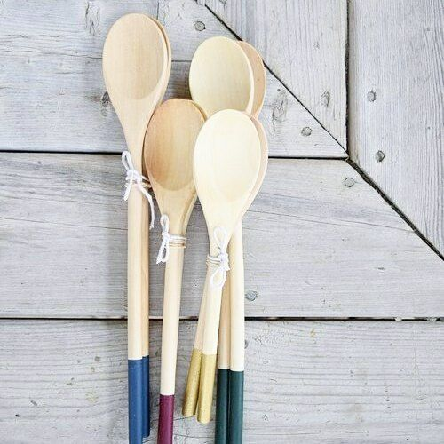 Due to popular demand our wooden spoons are back!  You can now find them in deep blue wine red gold and forest red.