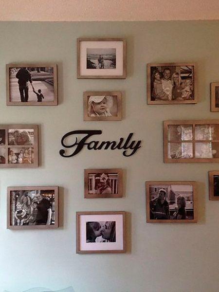 Las 25 mejores ideas sobre paredes de fotos de familia en - La casa del cuadro ...