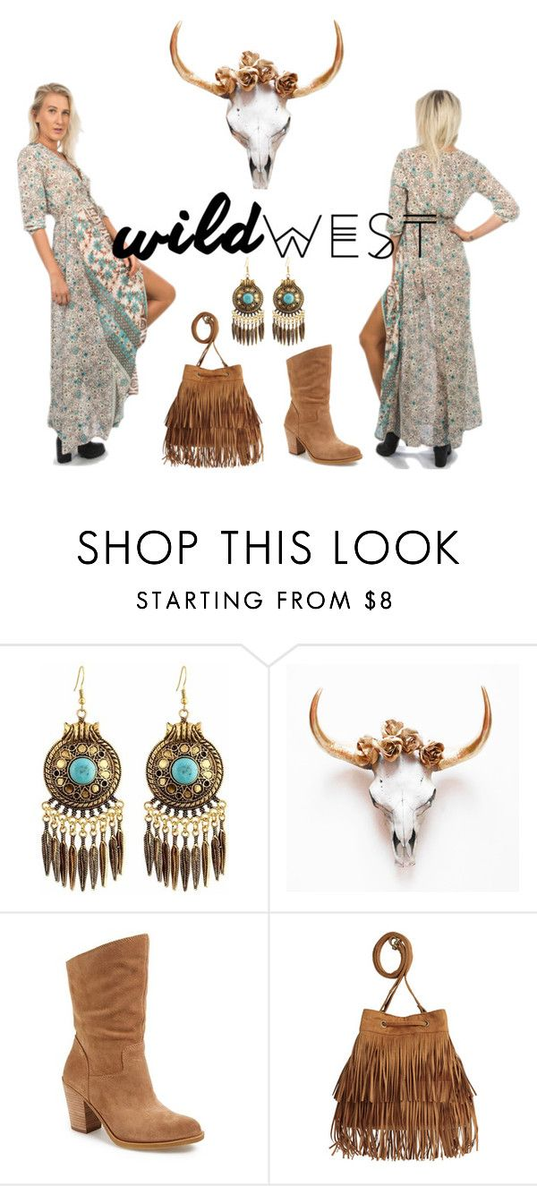"""""""Foreign Hearts//Wild West"""" by jenacides ❤ liked on Polyvore featuring Lucky Brand and H&M"""