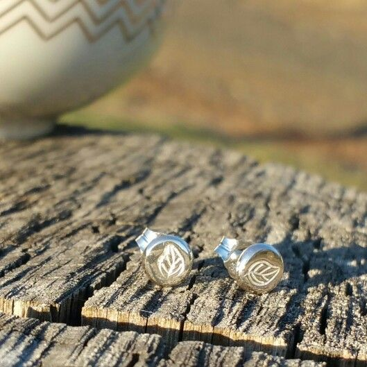 Autumn earrings handmade from recycled sterling silver. Made in Australian.