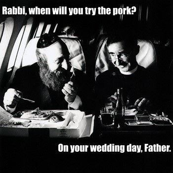 Catholic Memes (On Facebook) haha my boyfriend has a jewish dad and catholic mom                                                                                                                                                                                 More