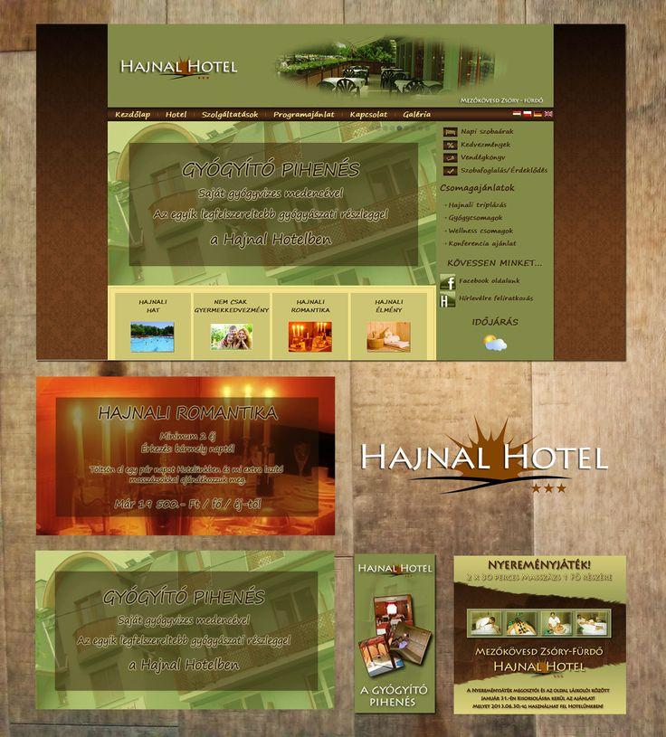 Hotel business Website | Social marketing design | Banner | Logo