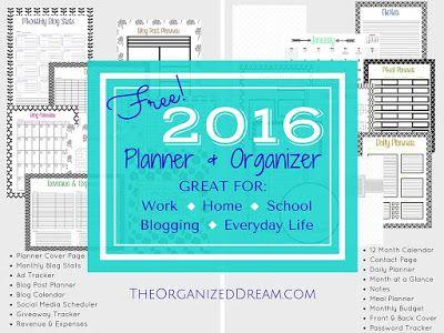 FREE 2016 Calendar, Planner