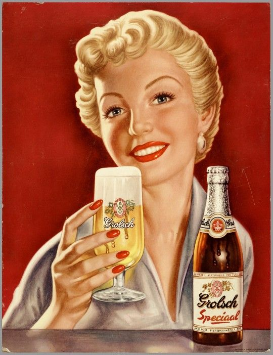 Grolsch Beer.....It will make the woman next to you at the bar look just like this!! Now that may in fact mean that she will seem more unattractive than she really is---because SHE WILL ALWAYS LOOK LIKE THIS AFTER A BEER OR TWO!