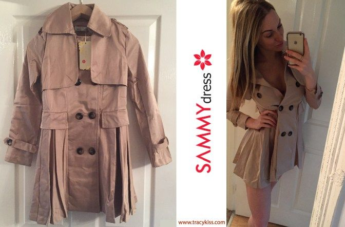 Sammy Dress Beige Double Breasted Trench Coat