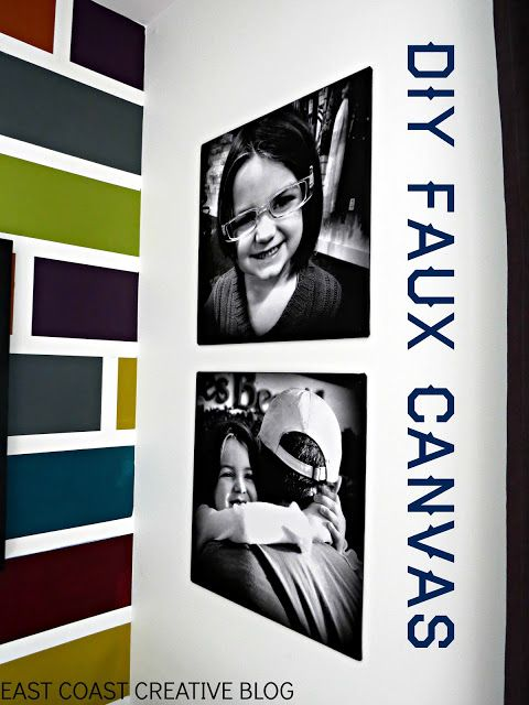 Faux Canvas Art using Staples Engineering Prints.  Super Simple DIY from East Coast Creative Blog