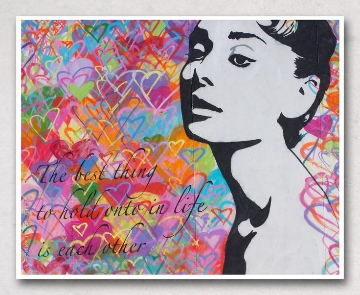 75 best audrey images on pinterest breakfast at tiffanys for Audrey hepburn mural los angeles
