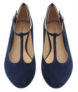 Royal Blue T-flats #shoes