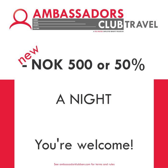 500 off per night.