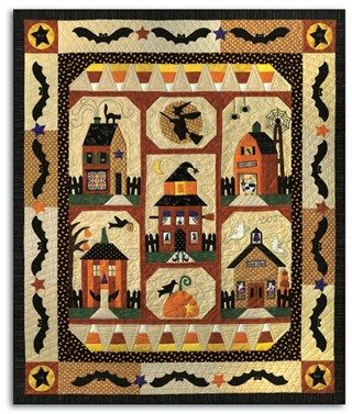 Halloween quilt - spooky. My sister would love this ( I didn't write this description, but it is fitting)