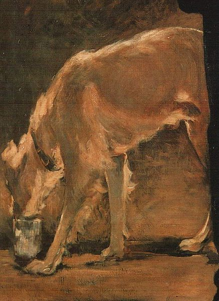 Édouard Manet - The Artist (Detail of the dog).