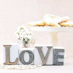 Bloques letras LOVE