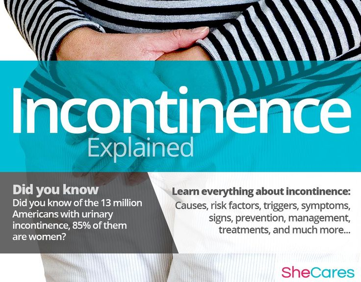 Urinary incontinence is the loss of bladder or bowel