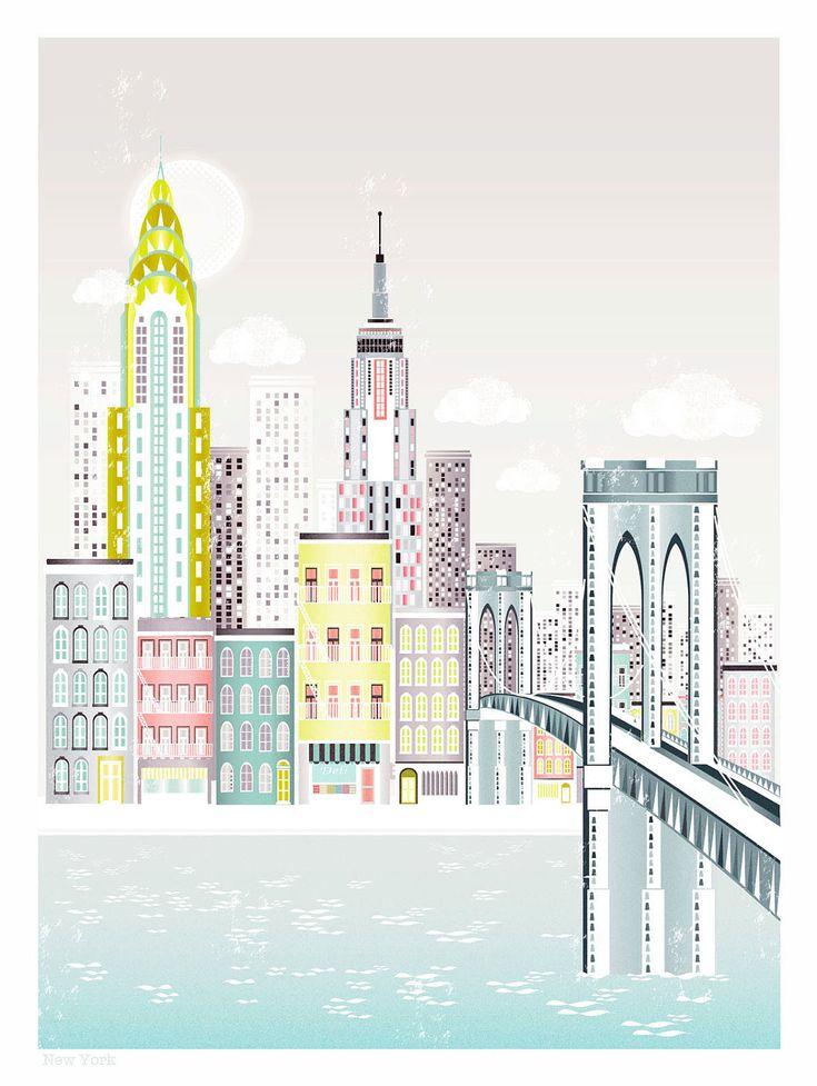 New York Wall Art | Brooklyn Bridge | New York Print | New York Gift | Cityscape Wall Art