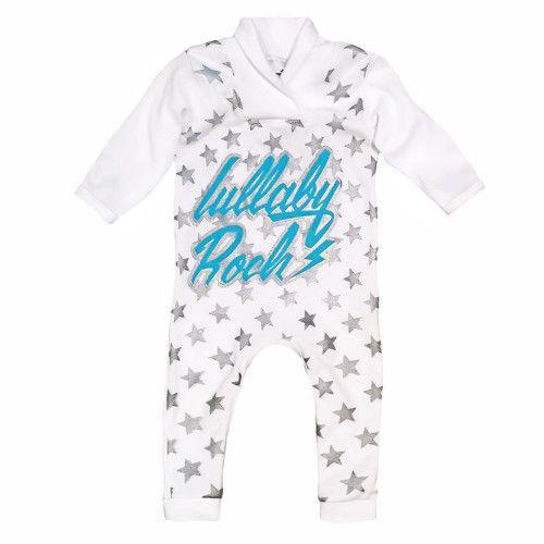Lullaby Rock Star onesie. Shop online at www.lullabyrock.co.za  #lullabyrock #rockingbabyapparel