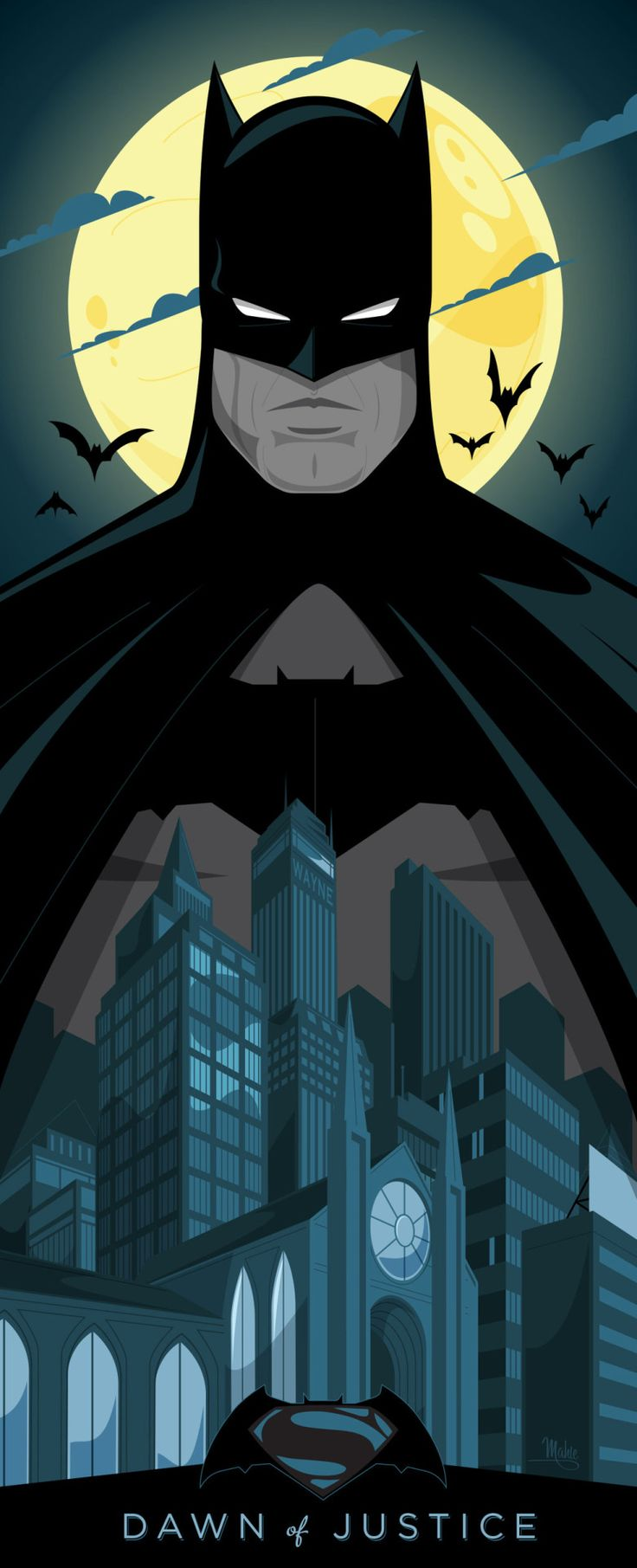 Batman v Superman by  Mike Mahle