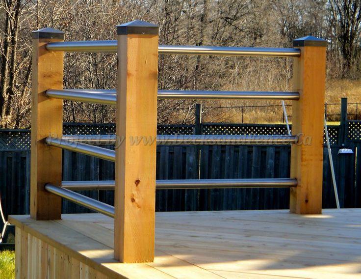 deck railings #Deck design  #custom deck #Toronto