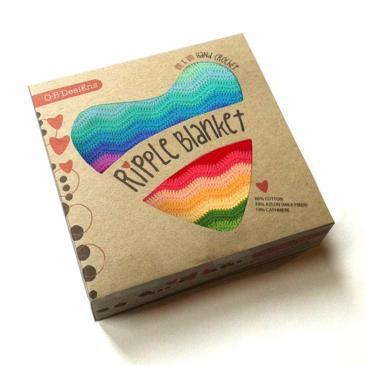 O.B Designs - Rainbow Ripple Blanket