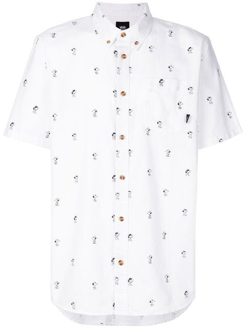 VANS Snoopy Button-Down Shortsleeved Shirt. #vans #cloth #shirt