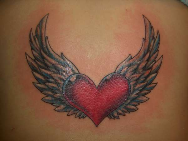 112 best angel wing s surrounding a heart memorial tattoo s for my rh pinterest com cross heart and wings tattoo tattoo heart wings