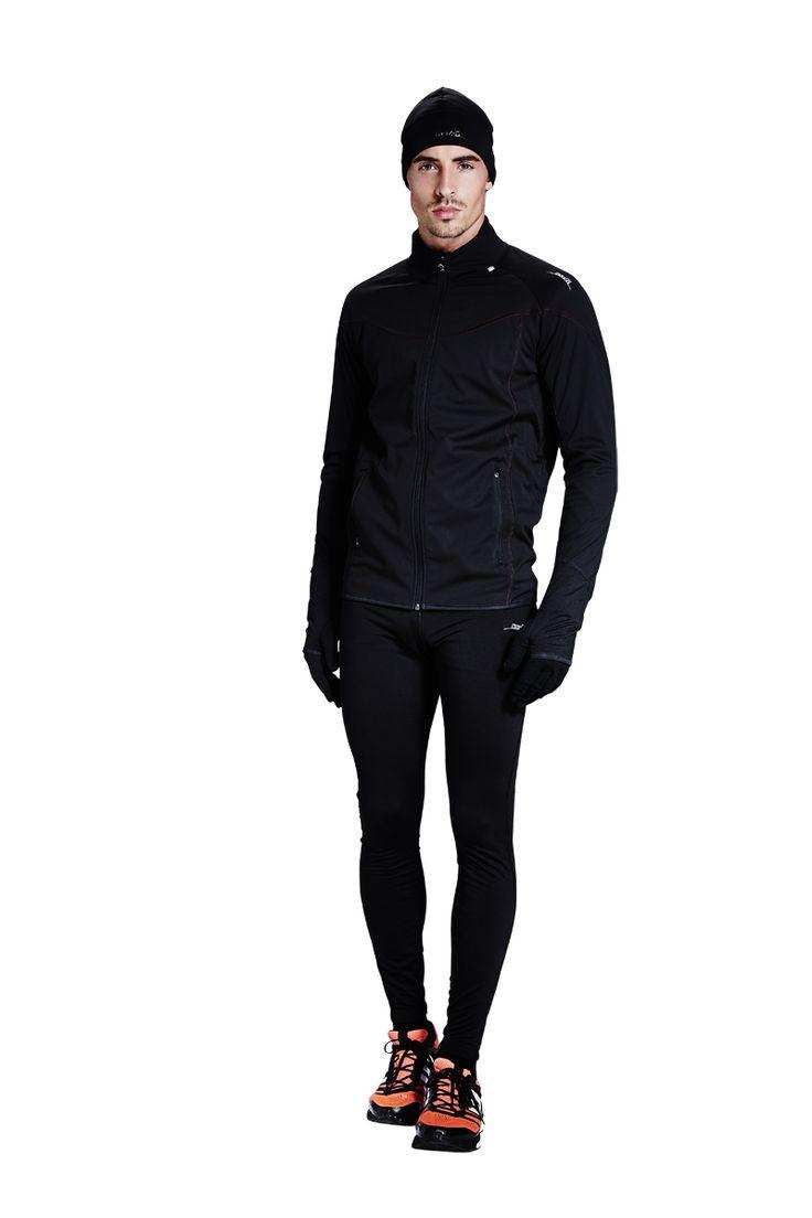 Winter Laufbekleidung von max-Q.com  mit #Laufhose #Softshell #Jacket #Laufmütze #Laufhandschuhe