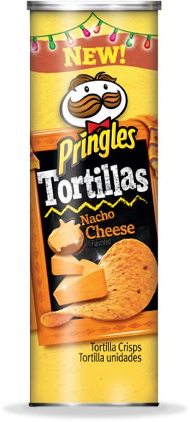 Pringles Tortillas Nacho Cheese- I cannot stop eating these. In real life I think I have become one of those women who is substituting food for sex lbs.