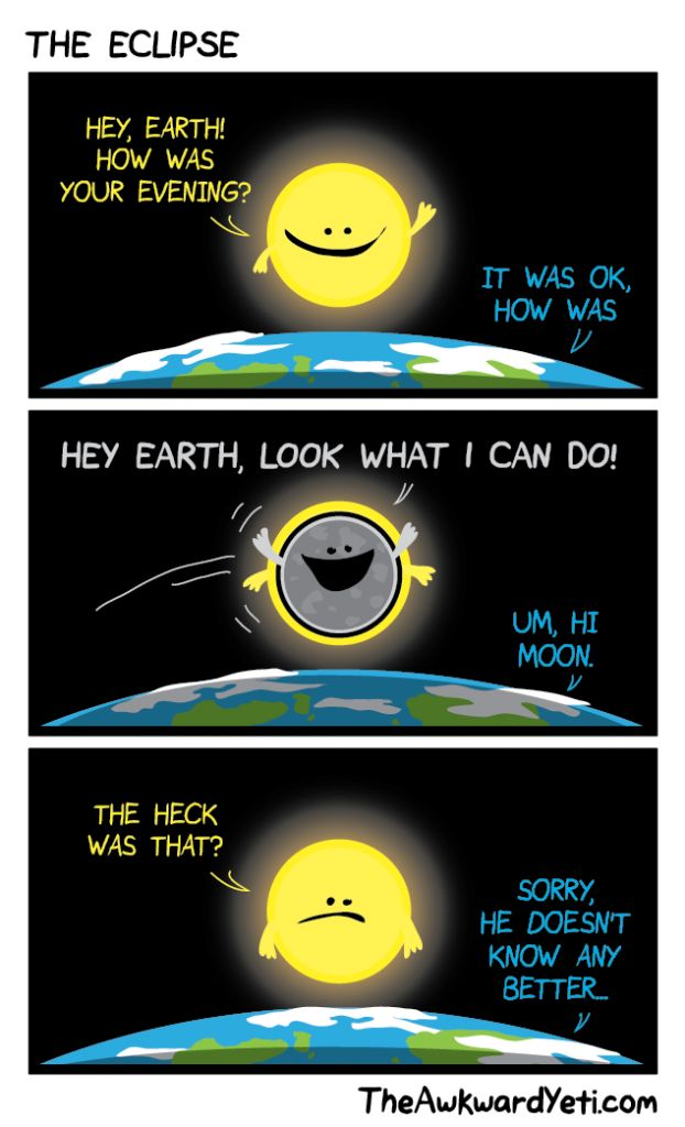 Image result for solar eclipse pun