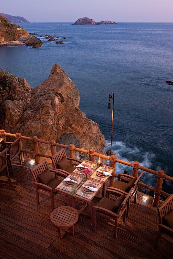 Seaside Cafe, Zihuatanejo, Mexico