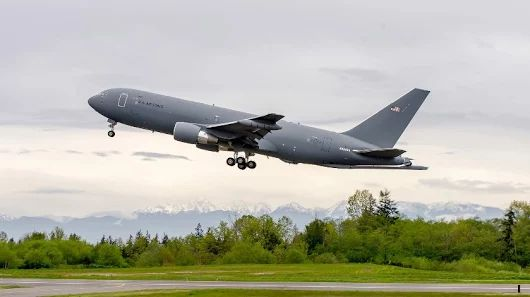 This first flight is another important step for the #KC46 program toward veri...
