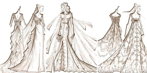 Disenos de vestidos de noche dibujos