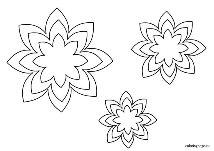Free Flower Templates Printable