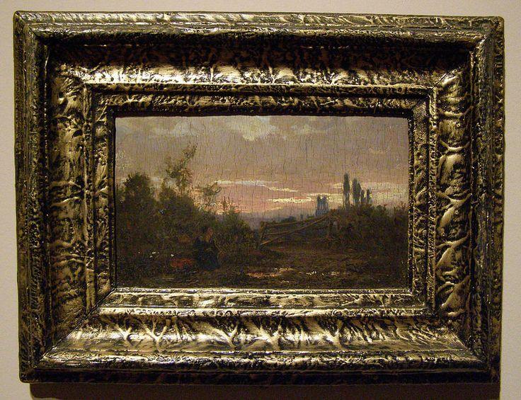 László Paál, Landscape at Dusk, c 1872