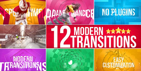 VIDEOHIVE MODERN TRANSITIONS - AFTER EFFECTS TEMPLATES - Free After Effects Template - Videohive projects
