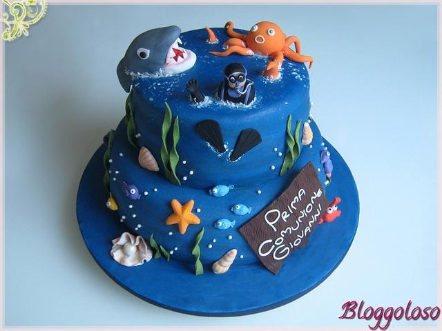 Scuba Diver Birthday Cake Yum Funny Dive Snorkel