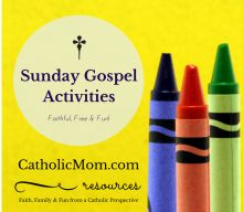 Catholic Gospel Coloring & Worksheets for Sunday Mass - May 2016