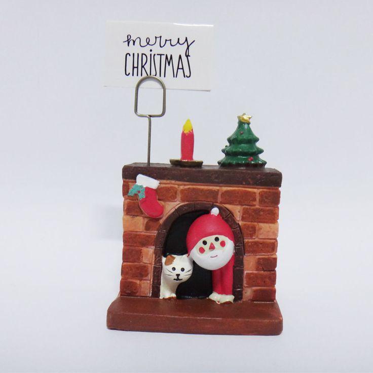 Concombre DECOLE Japan Cute Lovely Kawaii Figure Christmas Santa Cat Fireplace #ConcombrebyDECOLE