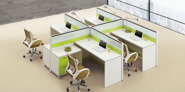 Diseño moderno cubículo estación de trabajo de oficina para 4 personas-Particiones de Oficina-Identificación del producto:1899154293-spanish.alibaba.com