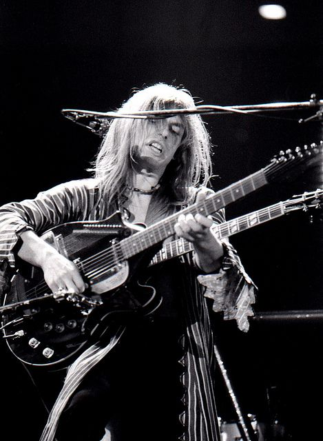 "Here is a GREAT shot of Steve Howe back in the day --- Stephen James ""Steve"" Howe (born 8 April 1947 in Holloway, North London, England) is an English guitarist, known for his work with the progressive rock group Yes. He has also been a member of The Syndicats, Bodast, Tomorrow, Asia and GTR, as well as having released 19 solo albums as of 2010."