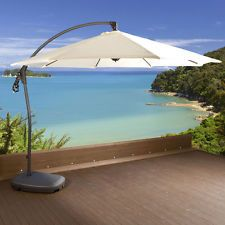 Top Quality Side Extending Parasol With Super Quick Fold Away Function And Water  Filled Base To Ensure Stability.