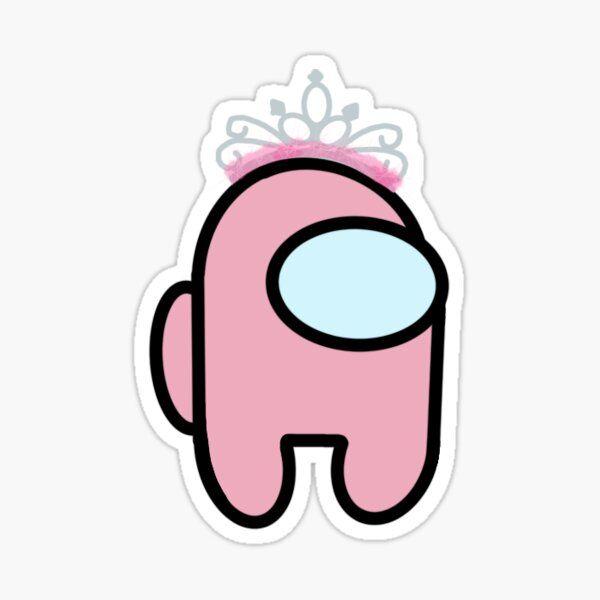 Among Us Pink Tiara Sticker By Janemfischer In 2021 Pink Tiaras Baby Pink Aesthetic Cute Patterns Wallpaper