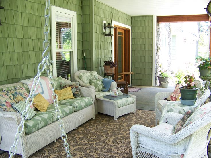 images of decorating with wicker furniture | Green Wall Decorating Ideas Also Beautiful Rattane Porch Furniture ...