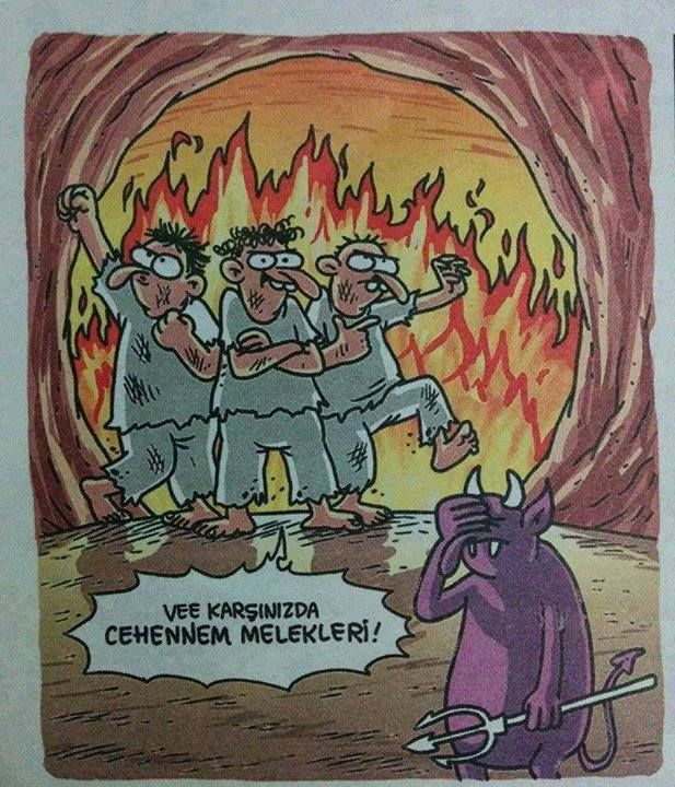 Ve karşınızda cehennem melekleri!  #karikatür #mizah